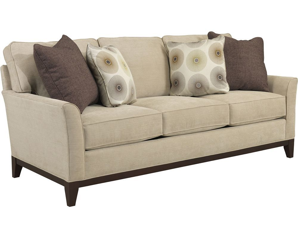 The contemporary Perspectives Sofa has clean lines, rounded curves ...