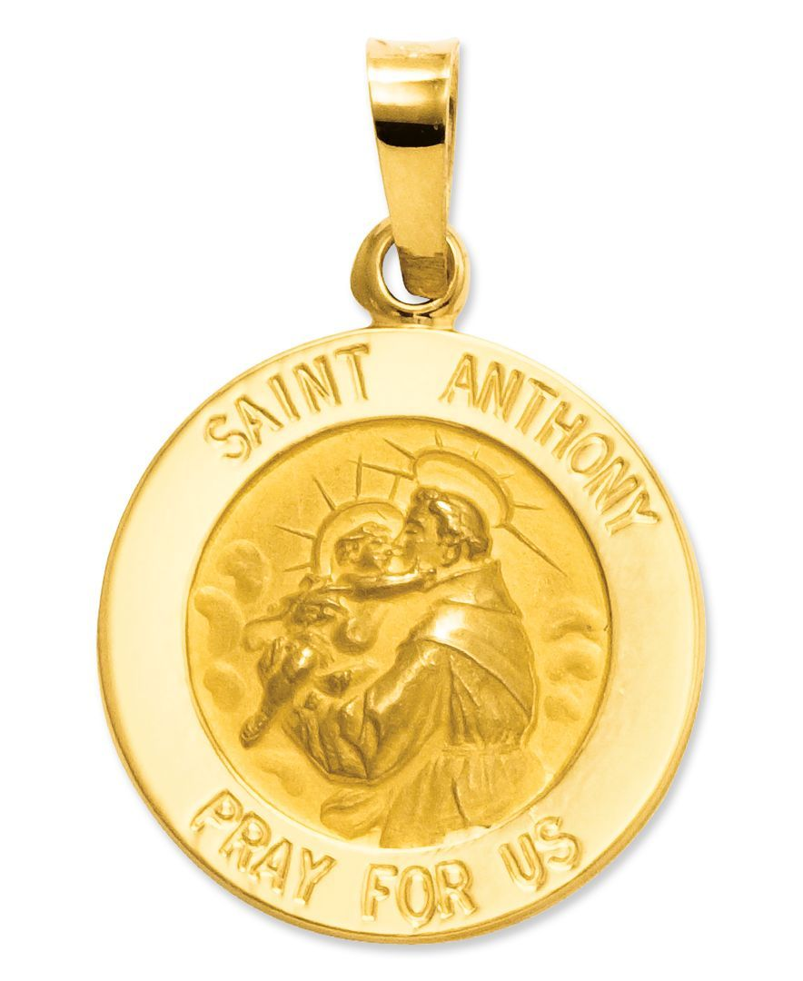 14k Yellow Gold Saint Andrew Medal Charm