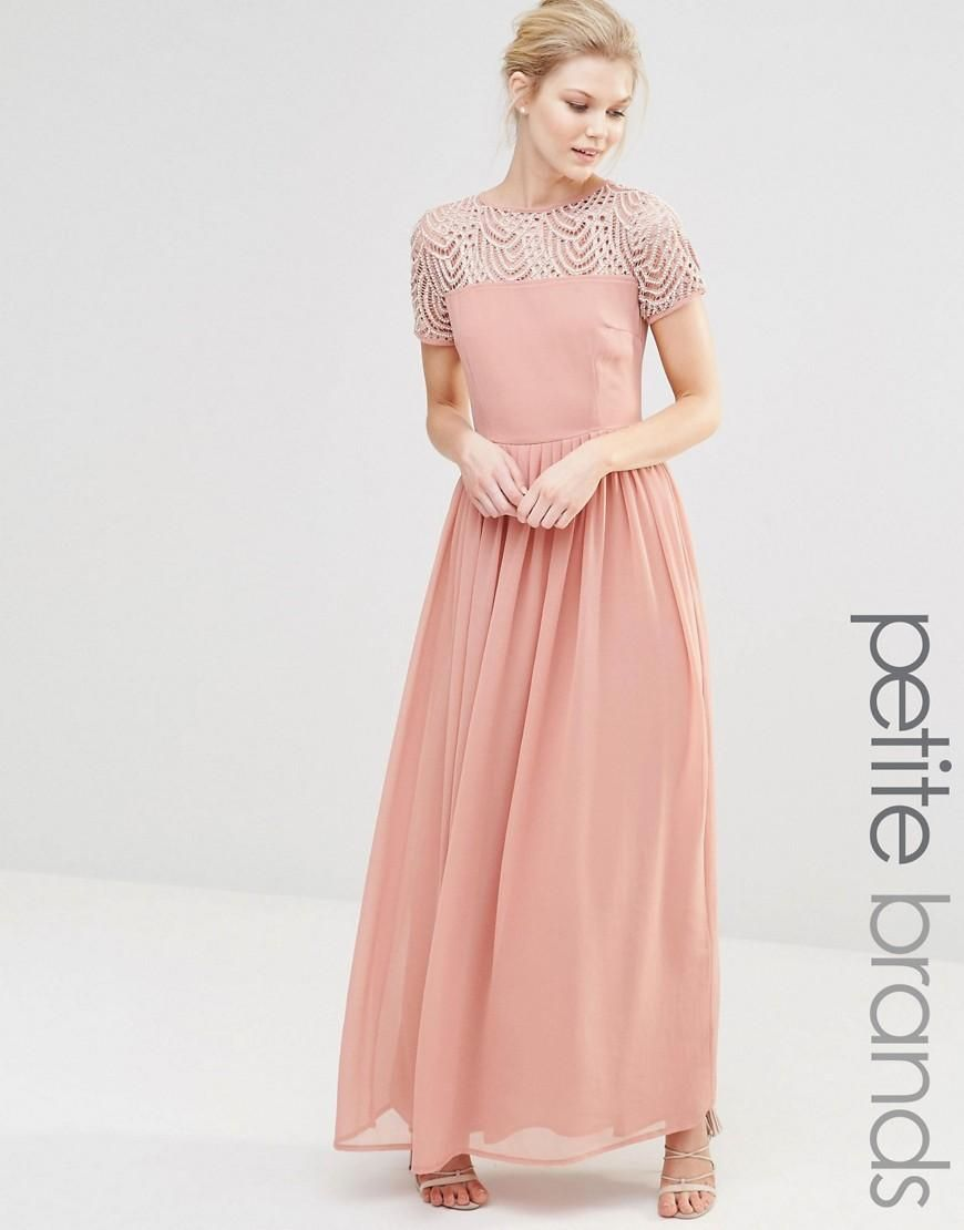Maya Petite | Maya Petite Pleated Maxi Dress With Pearl ...