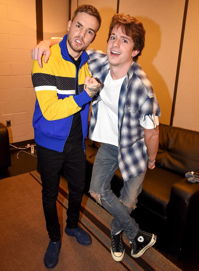 Liam Payne And Charlie Puth At 106 1 Kiss Fm S Jingle Ball 2017 In