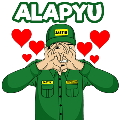 New Funny Emoji  Hello ! This is Sundanese Funny Kondangan Soldier Sticker