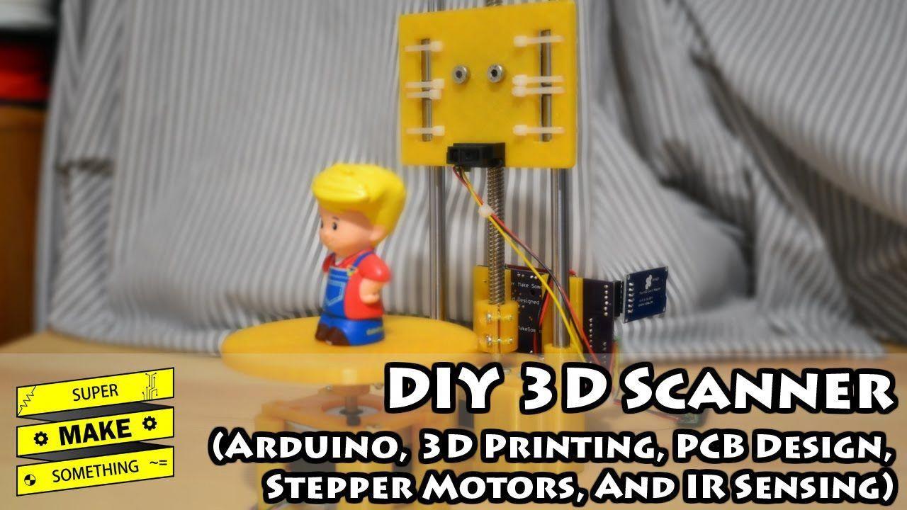 DIY 3D Scanner (Arduino, 3D Printing, PCB Design, Stepper