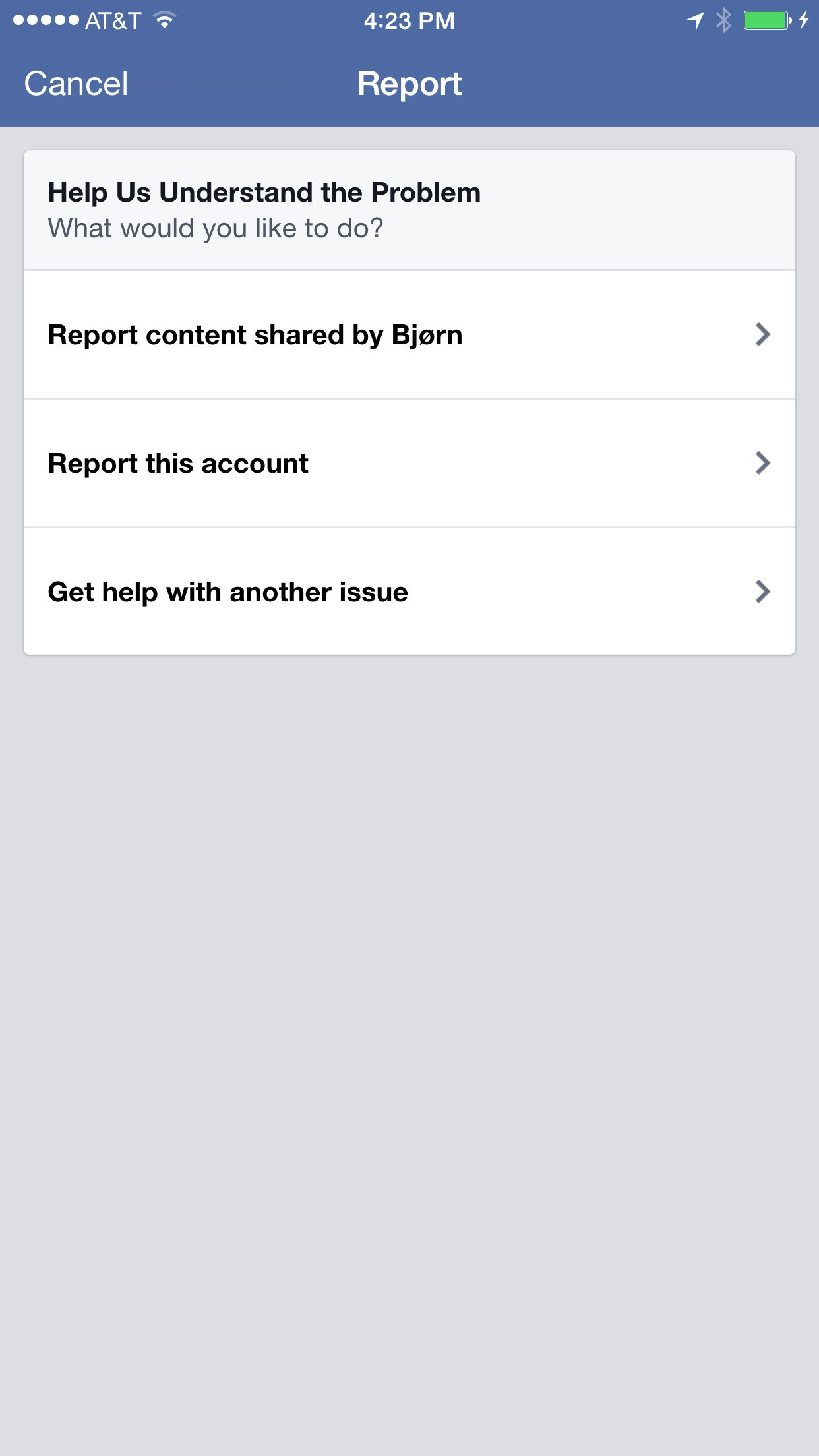 Facebook block step 2 | UI Review: Spam & Abuse | Spam, Facebook
