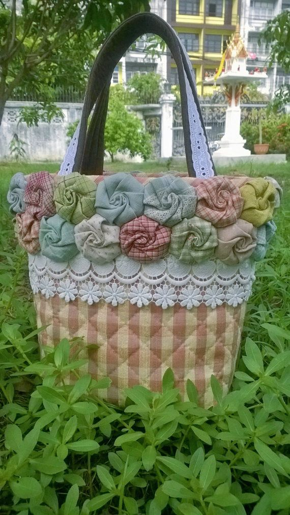 rose basket by Munkongshop on Etsy,