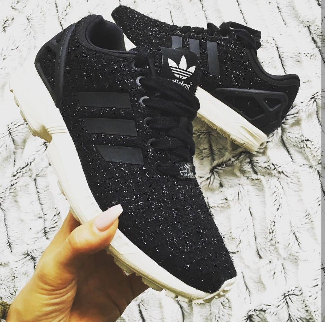 Adidas Originals Swift Run in black with shimmering glitter