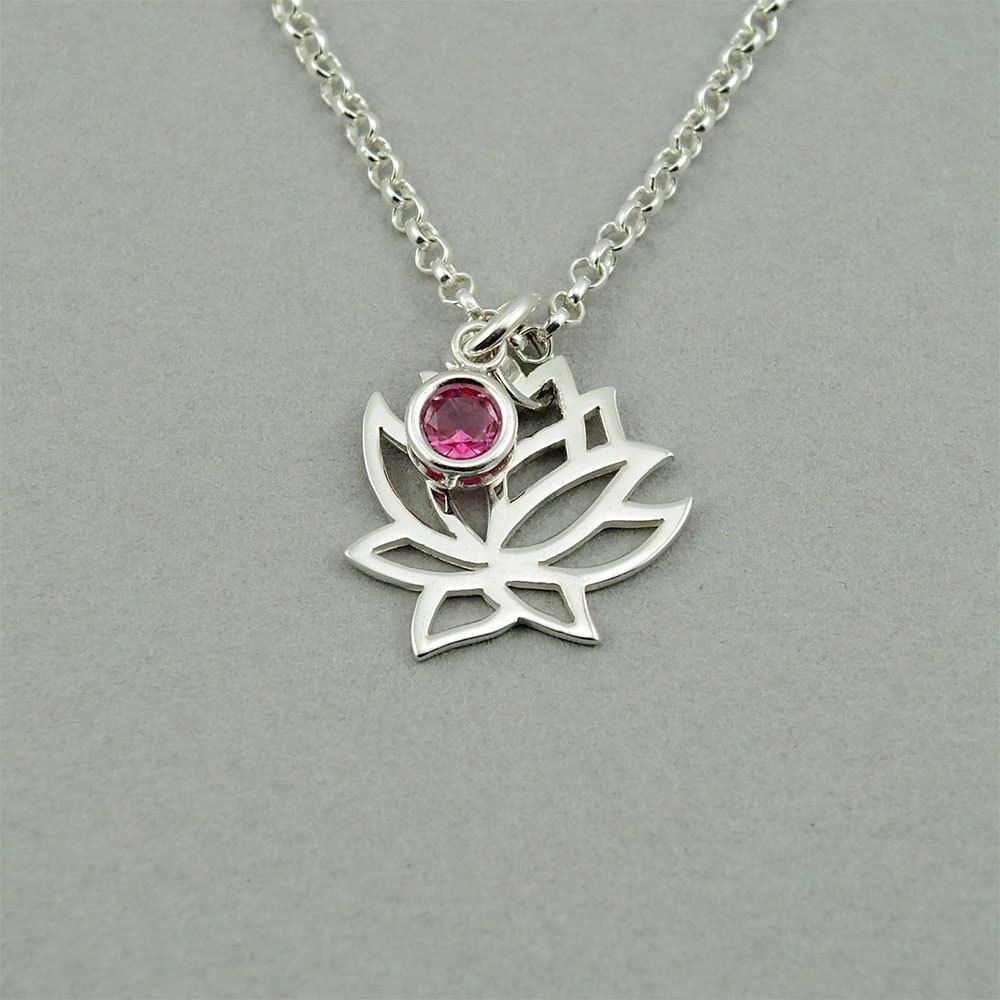 Lotus necklace sterling silver lotus flower necklace lotus flower lotus necklace sterling silver lotus flower necklace lotus flower jewelry yoga jewelry izmirmasajfo