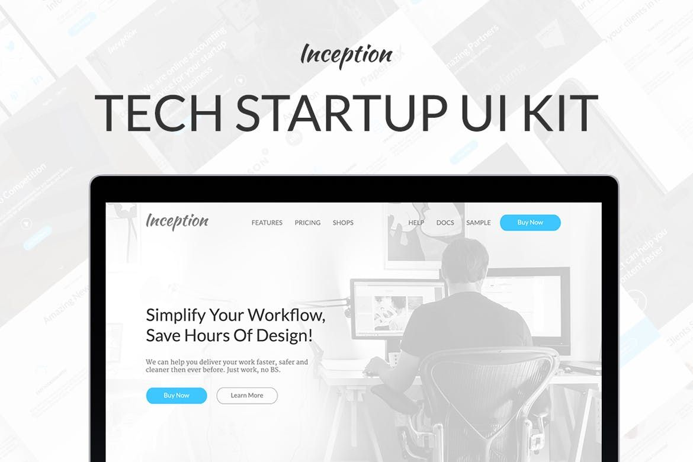 Inception Ui Kit Ui Uikit Ux Web Website Bootstrap