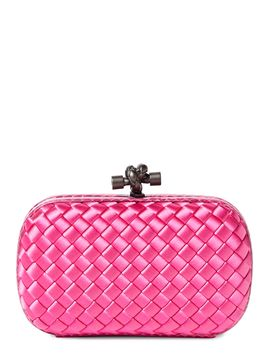 958067610f Knot Stretch Satin   Ayers Snakeskin Box Clutch (Bottega Veneta)