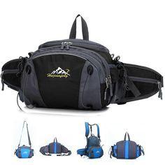 MALEDEN Weatherproof Multifunctional High Capacity 4-in-1 Outdoor Sports Bag for Cycling Backpack, Hiking Waist Belt Bag, Casual Shoulder…