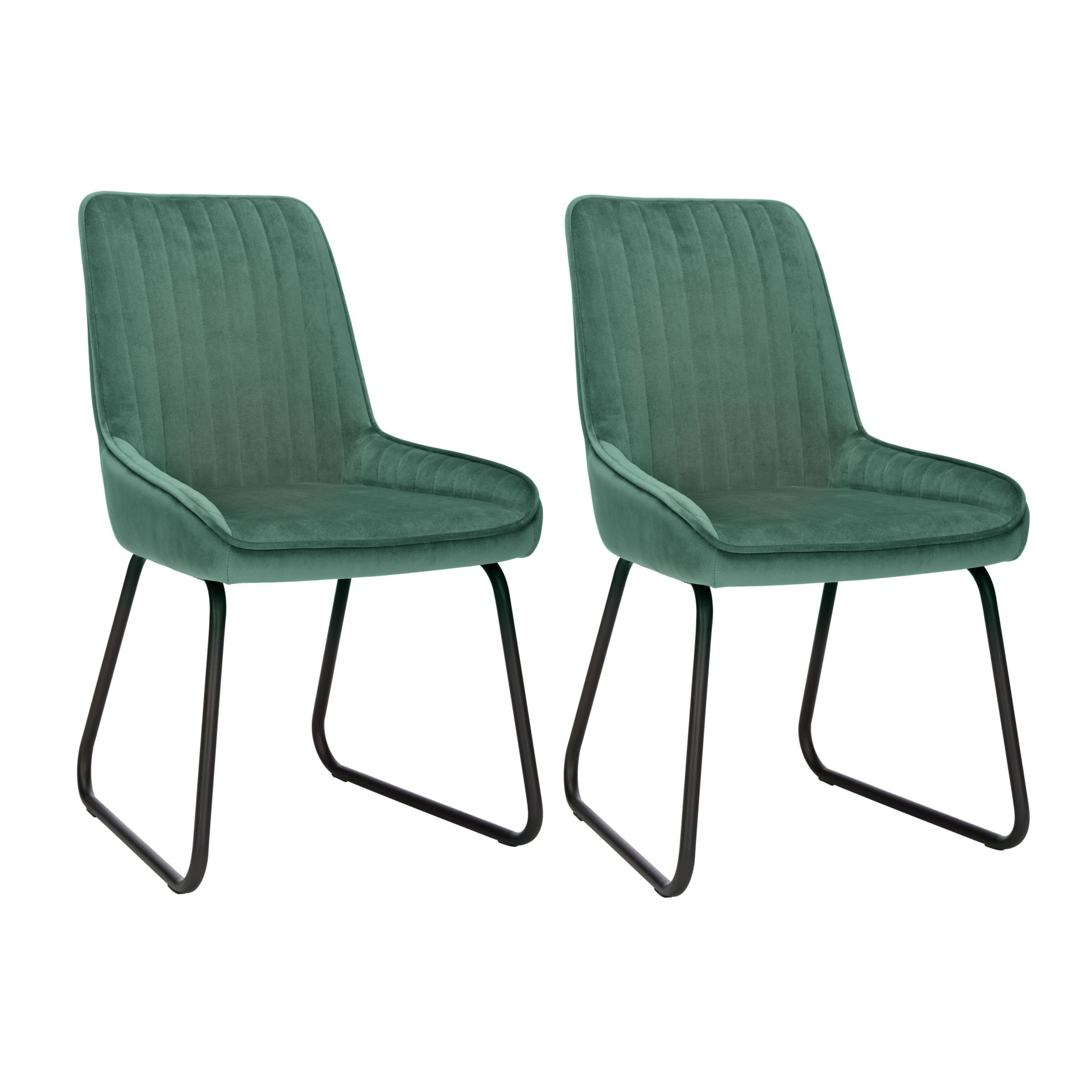 Strange John Lewis Partners Brooks Velvet Side Dining Chairs Set Pabps2019 Chair Design Images Pabps2019Com