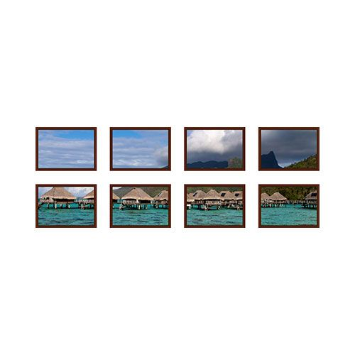 Symmetrical Eight Spread Canvas Prints, Brown, Multi piece