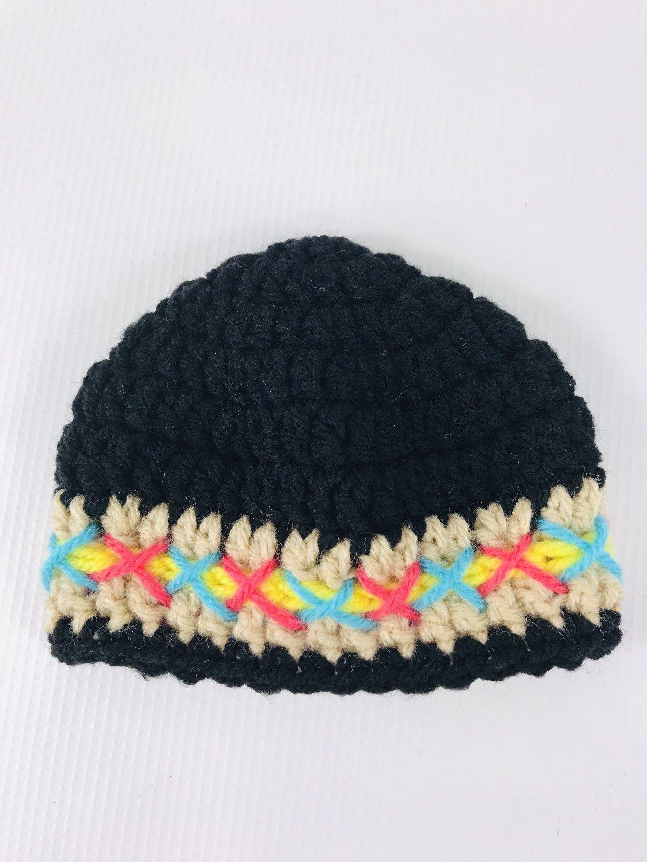 Written Crochet Pattern for Native American 18 Doll Hat #dollhats