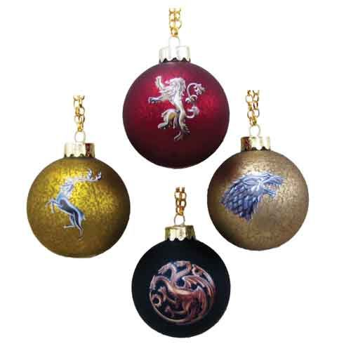 Game of Thrones House Crest Decal Ball Ornament Set - Kurt S ...