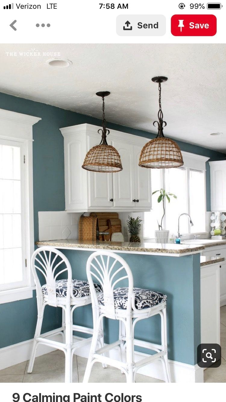 Pin by Steph Kinard on Brighter kitchen Blue kitchen