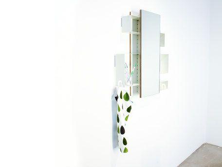 platzsparender Spiegelschrank für das Badezimmer, Ablagekisten - spiegelschrank fürs badezimmer