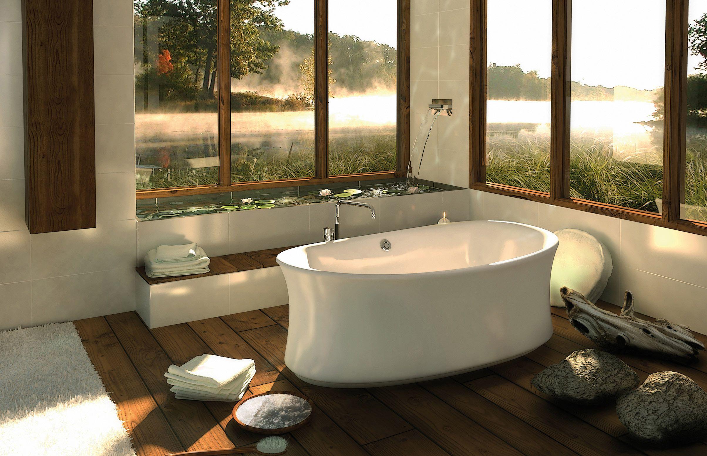 AMBROSIA F Freestanding bathtub - MAAX Collection   Bathroom Designs ...