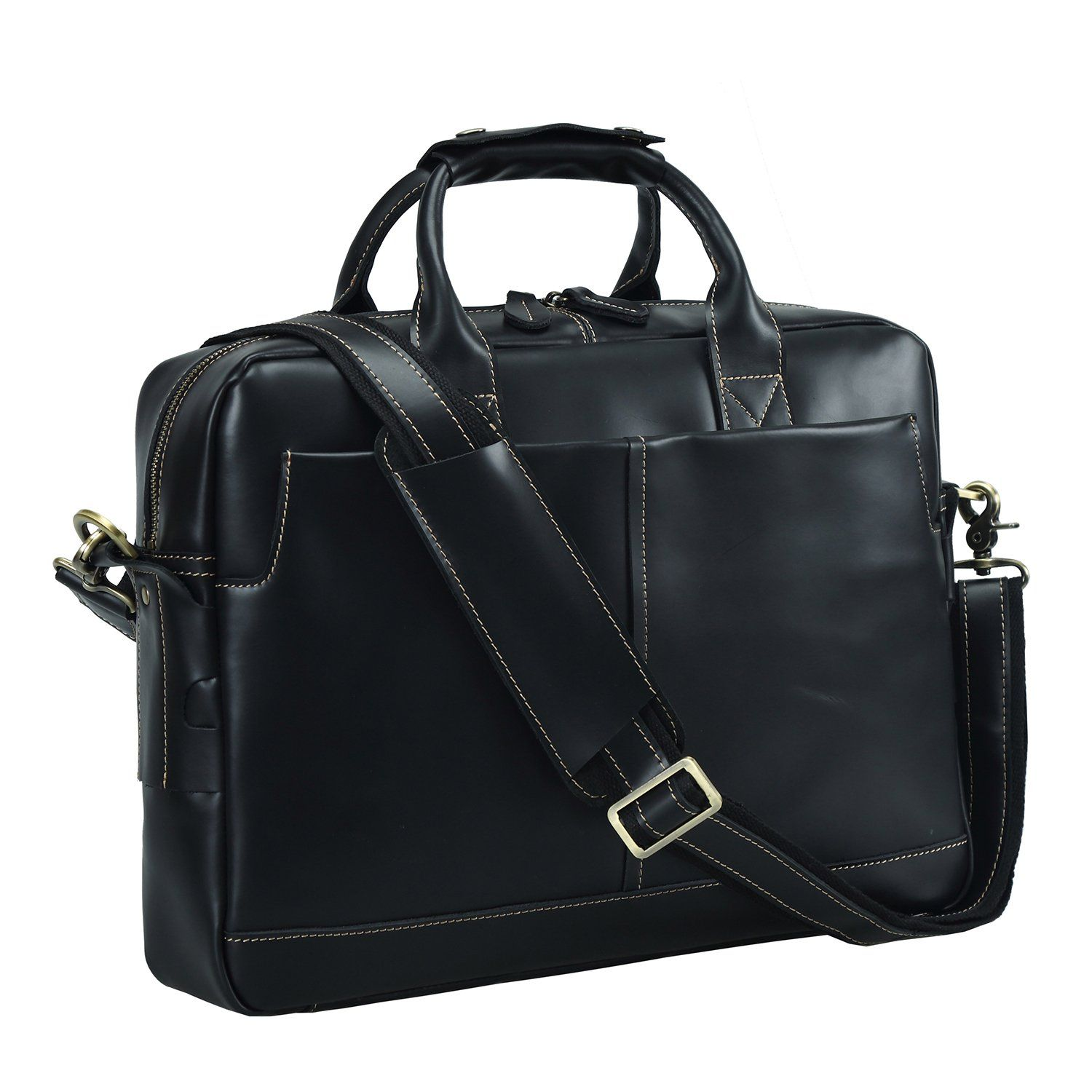 67c68a49ddfb Texbo Genuine Leather Men s Briefcase Messenger Tote Bag Fit 17