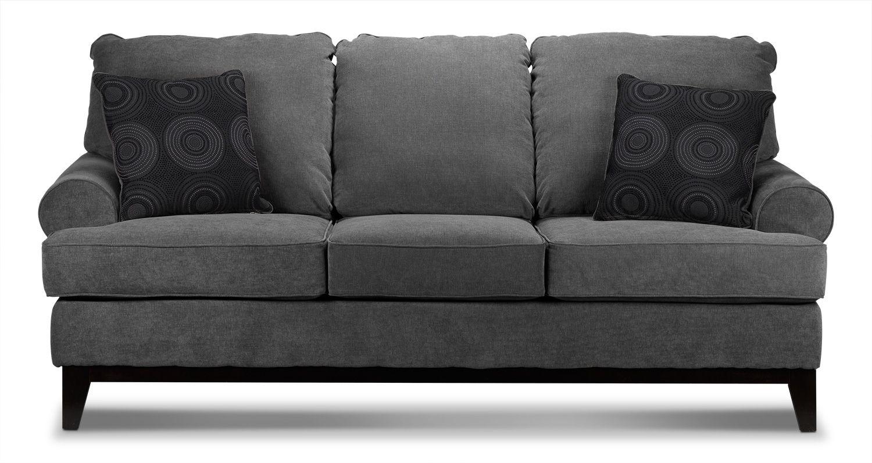 Living Room Furniture Crizia Sofa Dark Grey Sofa