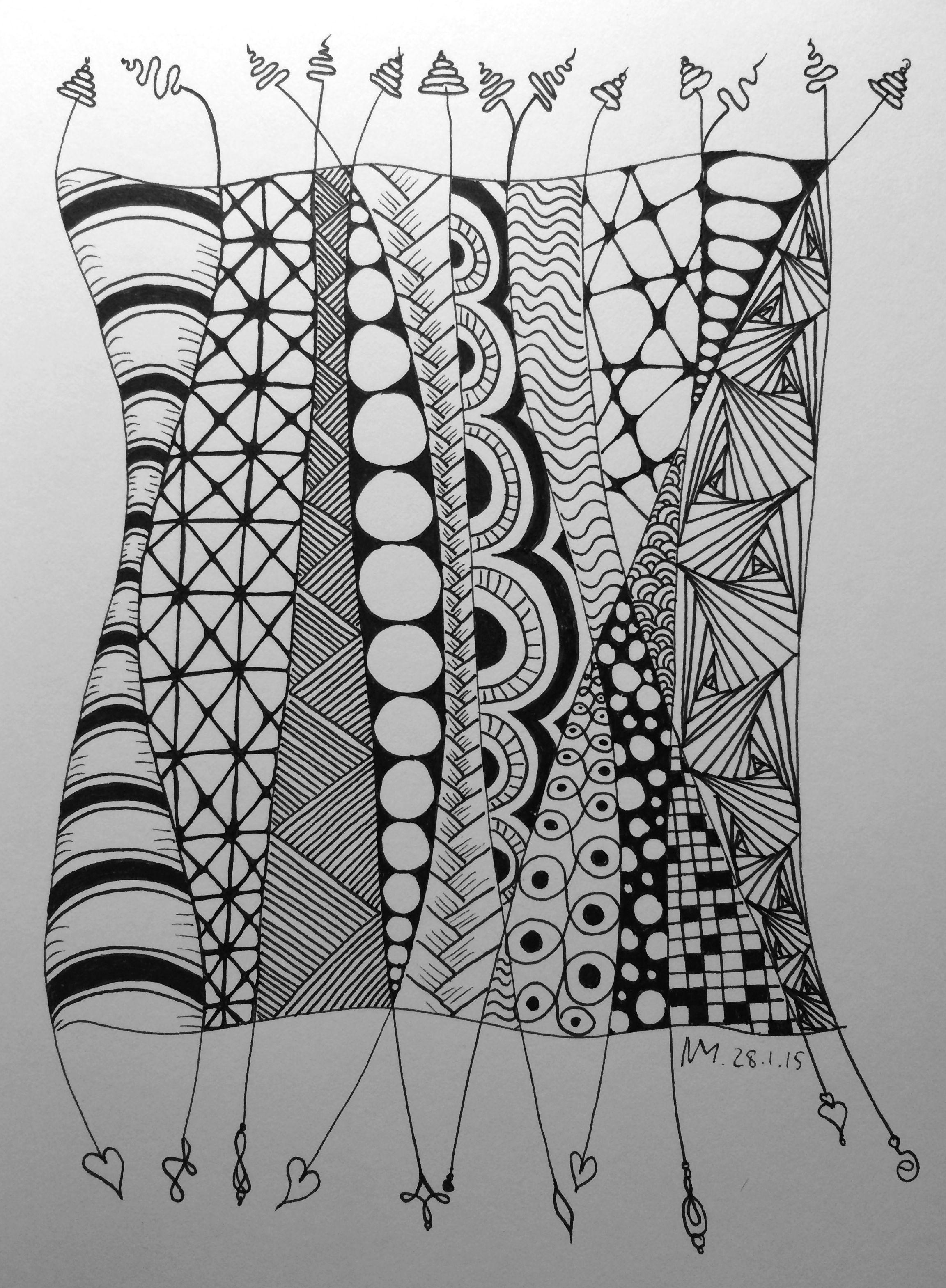Erinnert Mich An Afrikanische Frauen In Ihren Bunt Gemusterten Gewandern Afrikanischefrauen Erinn Afrikanische Muster Zentangle Zeichnungen Muster Malvorlagen