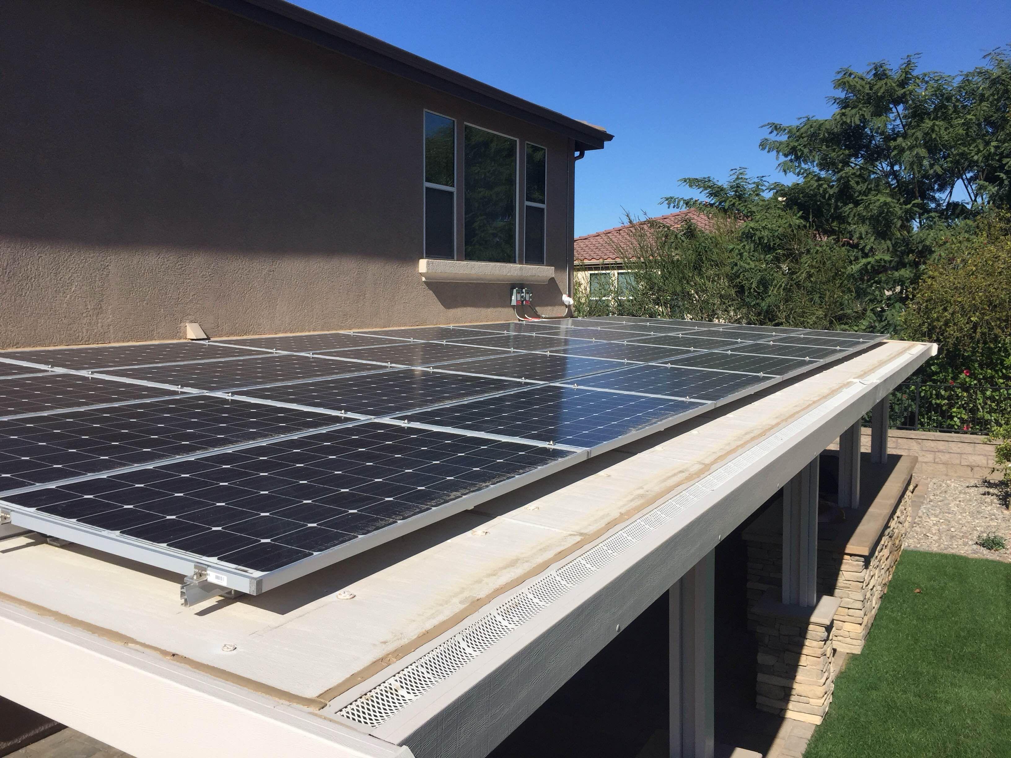 Solar ready patio Covers 1 Solar Panels on Pergola