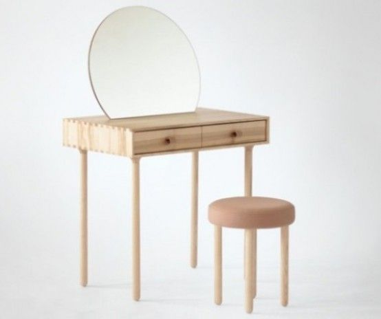 Furniture Simple And Minimalist Design For Wooden Dressing
