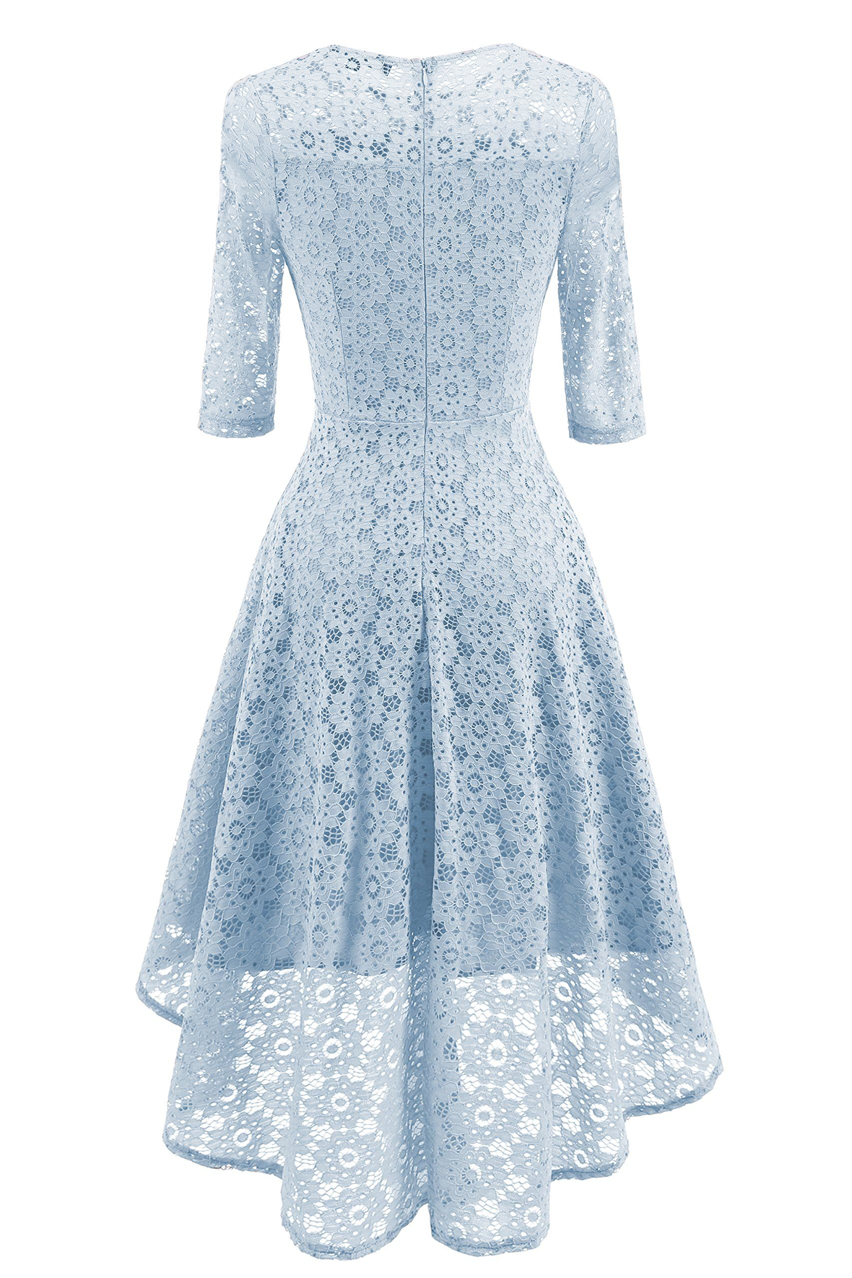 Jh dress womens lace formal vintage sleeve elegant short prom