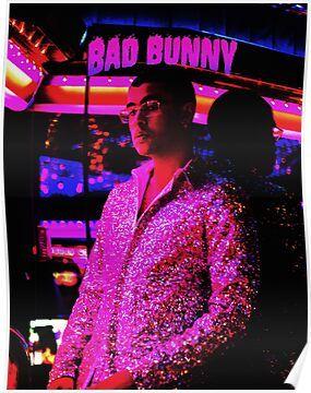 style bad bunny tour 2019 bedakan Poster