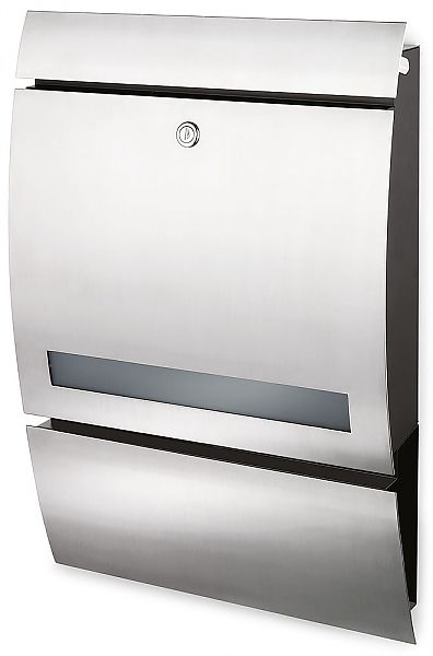 Blomus Signo German Made Stainless Steel Mailbox With Window 65121