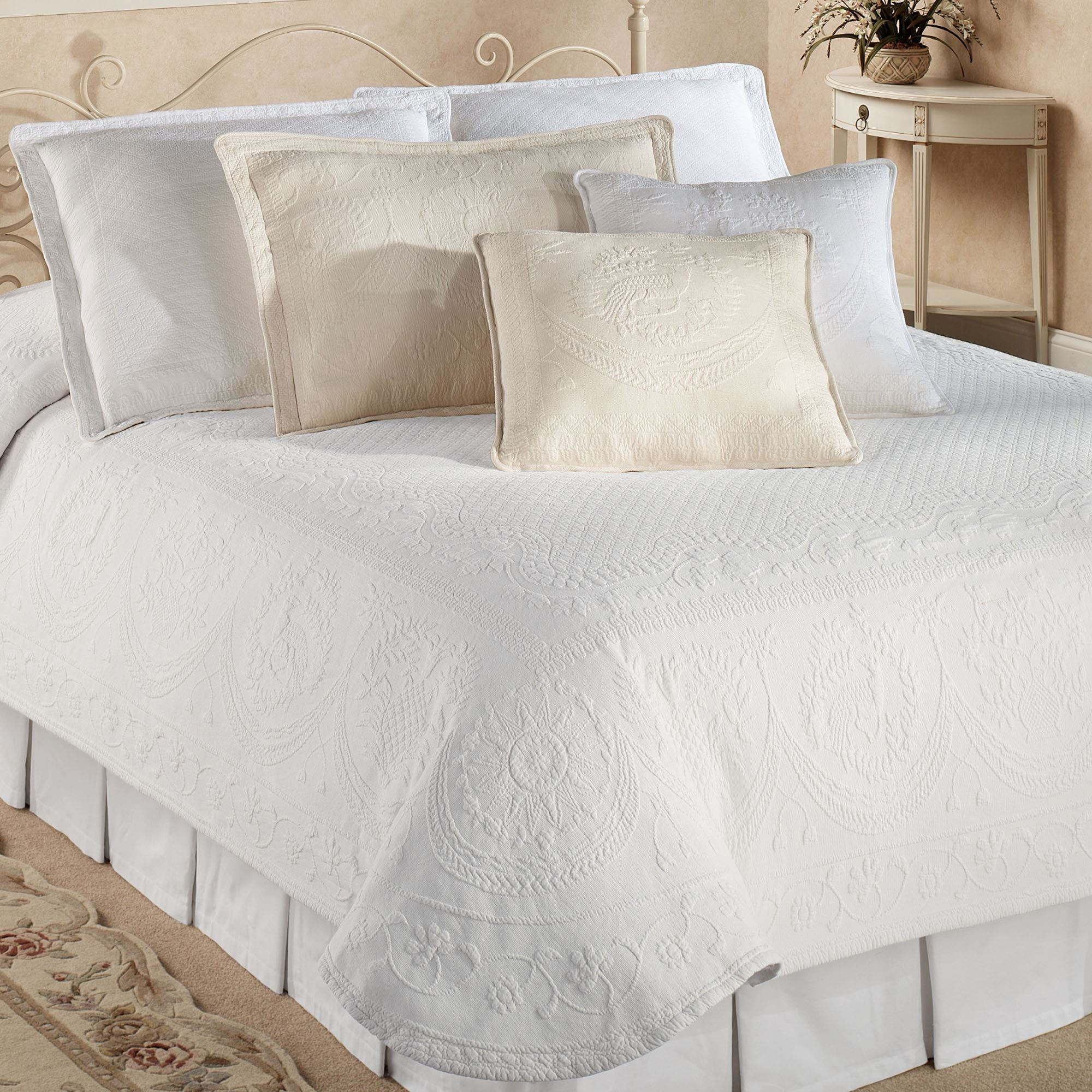 The Purists Jasmine Matelasse Duvet Cover Bed Pillows Decorative