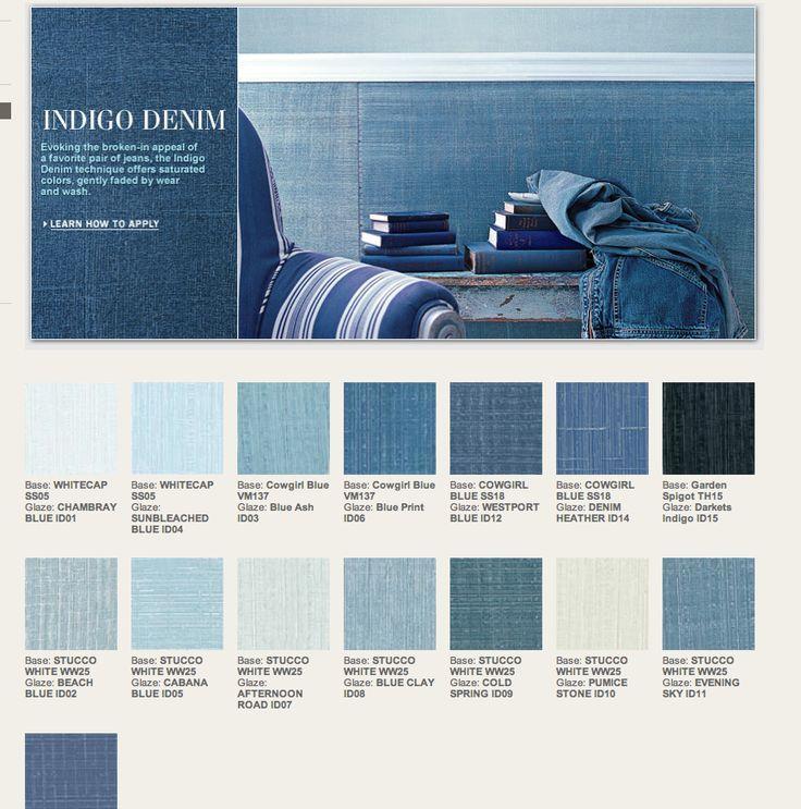 Ralph Lauren Indigo Denim Paint Colors | Gabby's Room ...