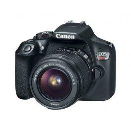 $299 , Canon EOS Rebel T6 18.0 MP SLR - Black - EF-S 18-55mm IS II Lens