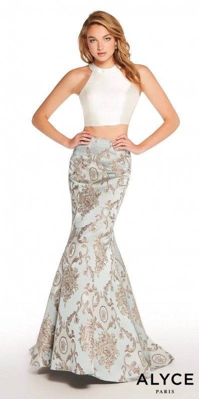 Bring back old fashioned Hollywood glamour with this Jacquard Two ...