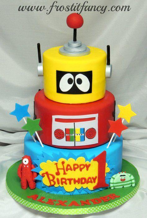 Groovy Yo Gabba Gabba Cake Birthday Party Cake Childrens Birthday Funny Birthday Cards Online Inifofree Goldxyz