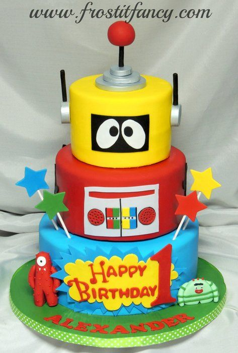 Prime Yo Gabba Gabba Cake Birthday Party Cake Childrens Birthday Funny Birthday Cards Online Elaedamsfinfo