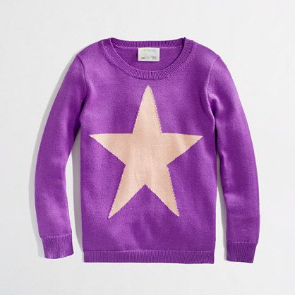 Factory girls' intarsia star popover $41.50