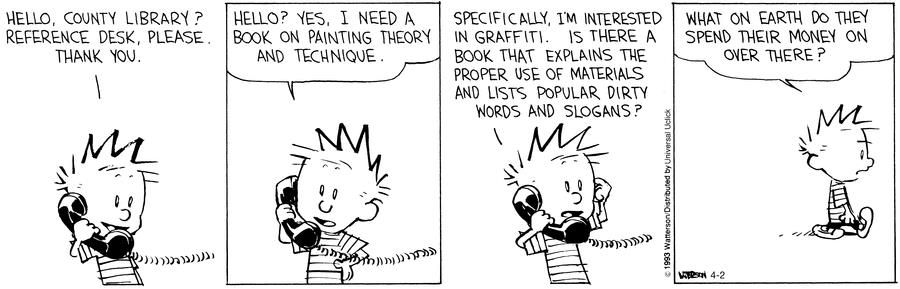 Learning about Graffiti : Calvin & Hobbes