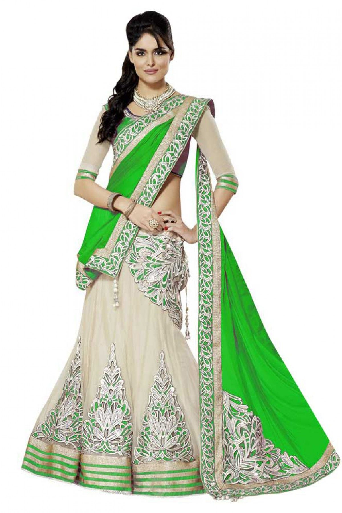d007718117 Georgette Party Wear Lehenga Choli in Green Colour.It comes with matching  Dupatta and Choli.It is crafted with Lace Work,Patch Work.