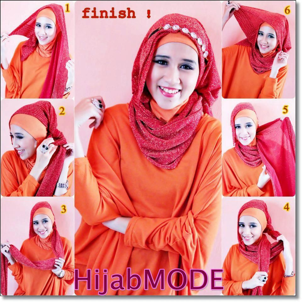 Headband Hijab Tutorial Hijab Styles Tutorials Pinterest