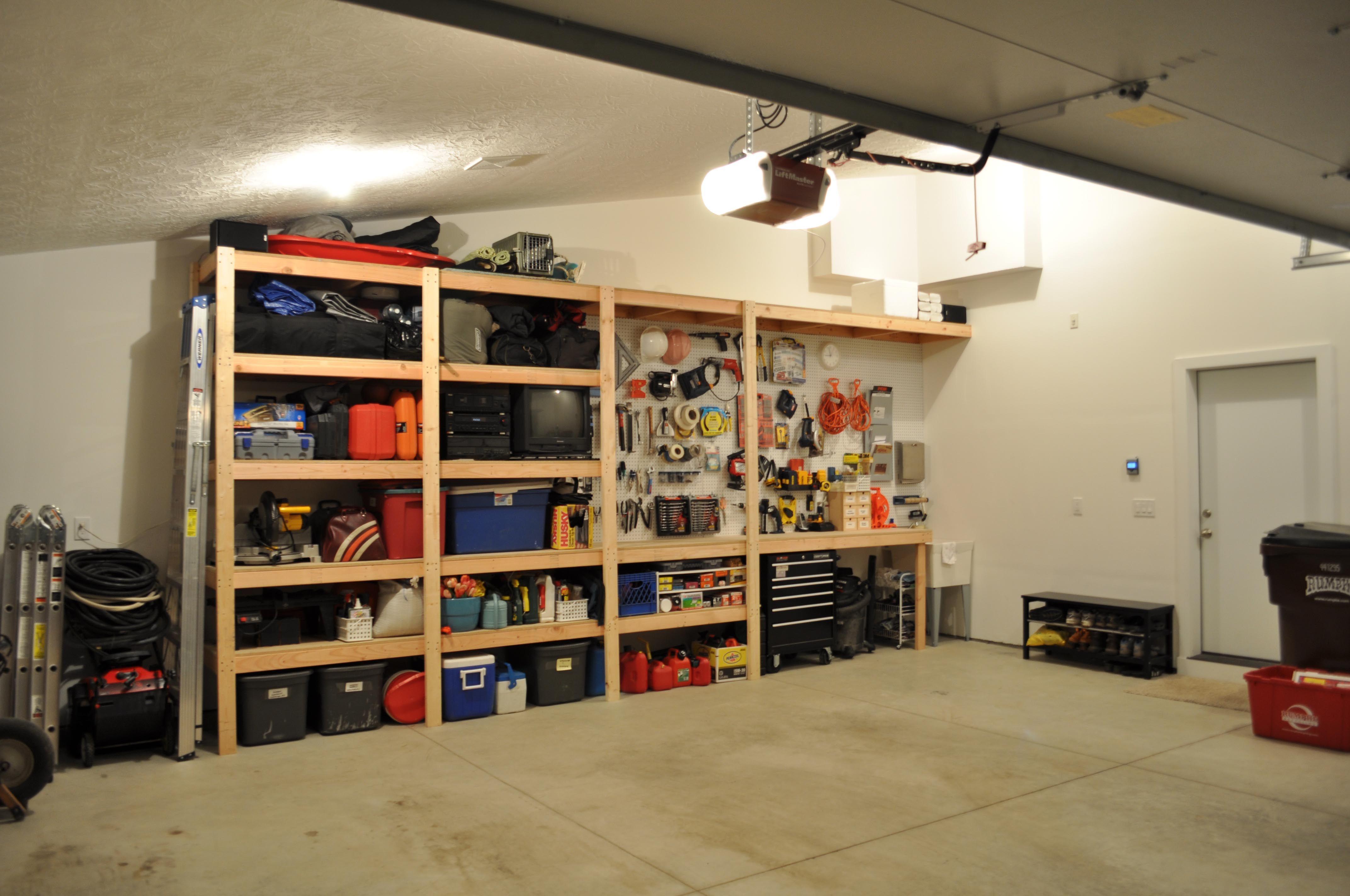 Pdf Plans Storage Shelf Building Ideas Download Free Simple Wood Clock Plans Garage Wall Storage Diy Garage Storage Garage Shelving