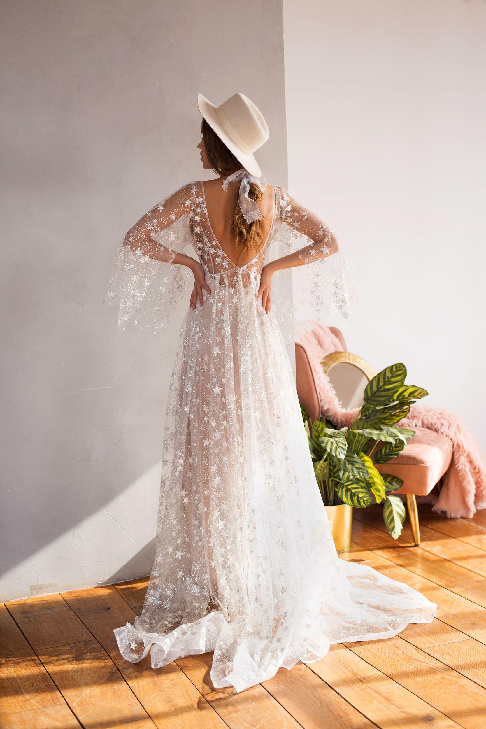 Bohemian Wedding Gown By Dream Dress Mesh Bridal Dress Summer Reception Gown Light Star Dress Simple Elegant Wedding Dress Bridal Dresses Wedding Dress Belt [ 2500 x 1667 Pixel ]
