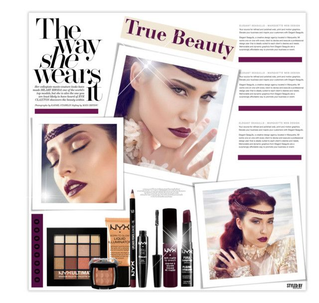 """True Beauty"" by marion-fashionista-diva-miller ❤ liked on Polyvore featuring beauty, NYX, darklips, beautyset, TrueBeauty and springbeauty"