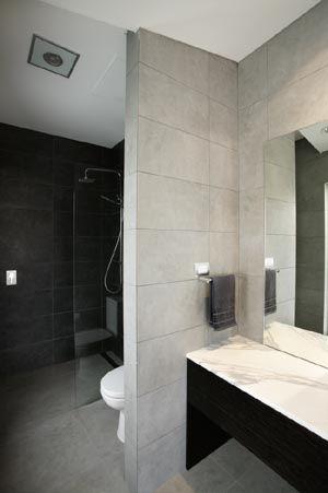 Modern Grey Bathroom Ensuite  Gasparre Tiles  Bathroom Entrancing Modern Grey Bathroom Designs 2018