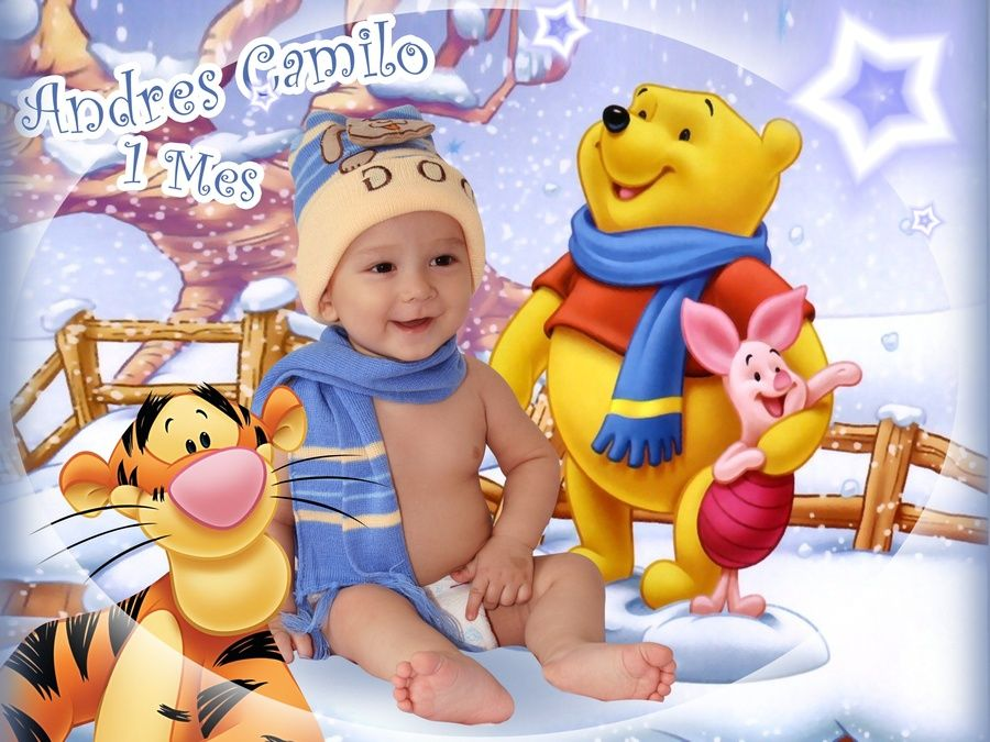 Plantillas PSD para montajes de bebe - Identi | photoshop ...
