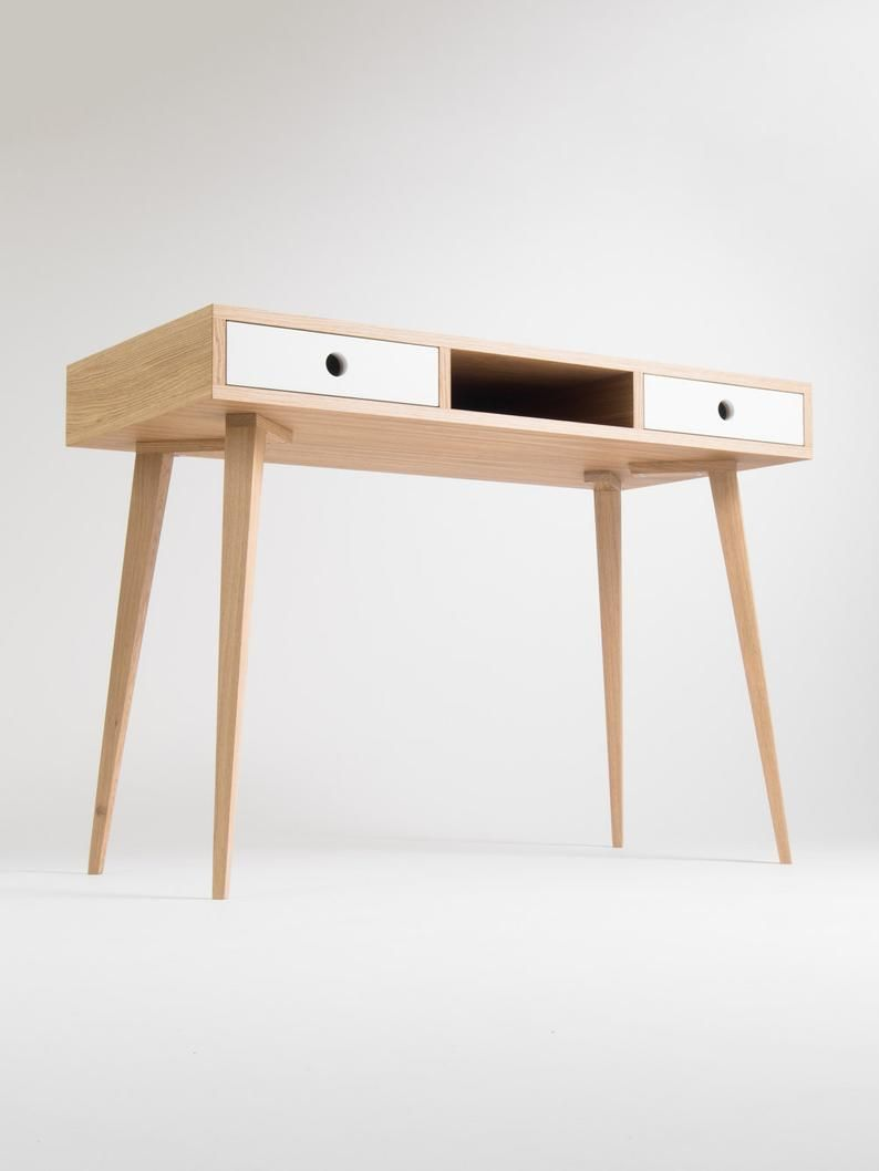 Desk for home dressing table bureau with white dra