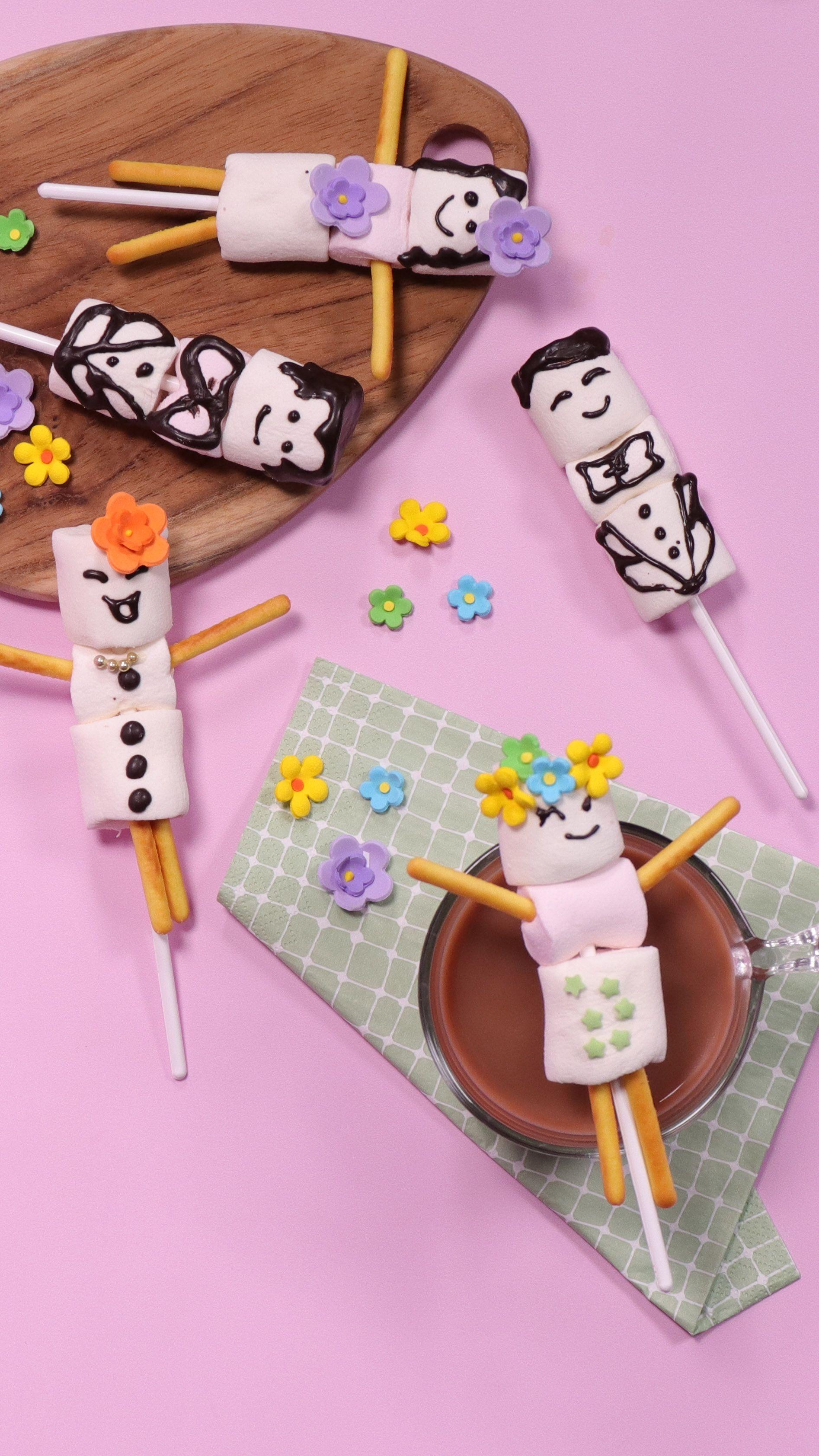 Resep Marshmallow Pop Resep Di 2020 Marshmallow Pops Marshmallow Resep Anak