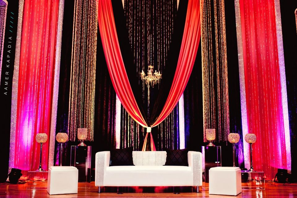 Stunning backdrop for walima reception image courtesy for Background decoration for indian wedding