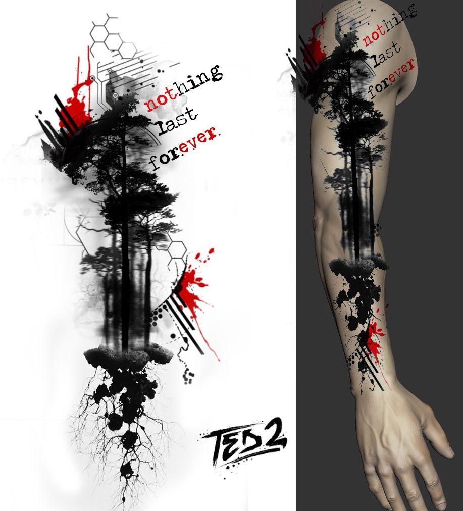 Trash Style Sleeve Trash Polka Tattoo Vorlagen Tattoo Vorlagen Arm Tattoo Ideen