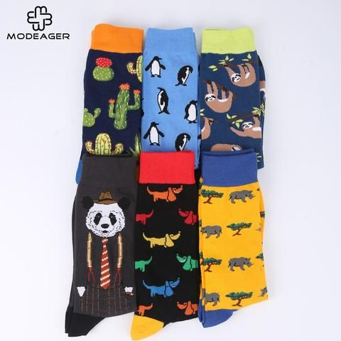 Beautiful Peonfly New Print Animals Plant Cute Cartoon Panda Octopus Whale Cactus Pattern Personality Pirate Flag Fashion Men Cotton Socks Underwear & Sleepwears