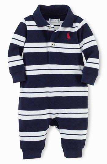 Ralph Lauren Romper (Baby Boys) available at  Nordstrom   baby fever ... 47bd48b7e37