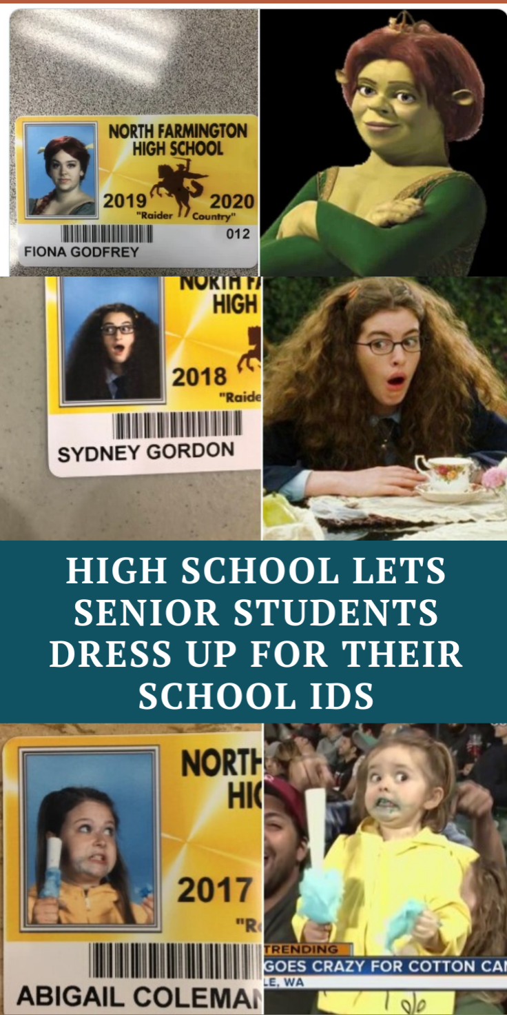 This High School Lets Seniors Dress Up For Their Student Ids And The Outcome Is Hilarious Senior Student School Id Stupid Funny Memes